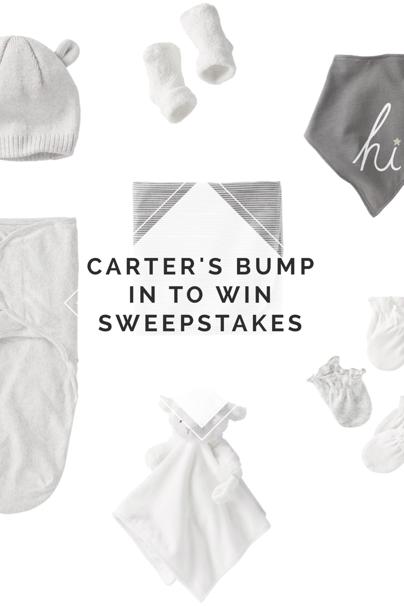 Carter's Bump In to Win Sweepstakes - Don't forget to Bump In to Win It on Saturday, September 23rd - Baby Clothes and Items perfect for Baby Shower Gifts, Birthday Gifts, and Christmas Gifts